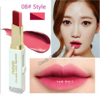 Candy Online Korea NOVO Double Color Lipstick Makeup Moisturizing Color Gradient Lipstick #8 - 2