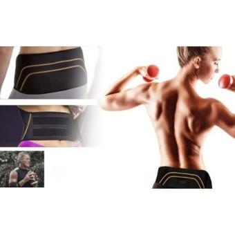 Catwalk Men Women Copper Back Pro Lower Back Support Lumbar Compression Belt Closure - intl - 5