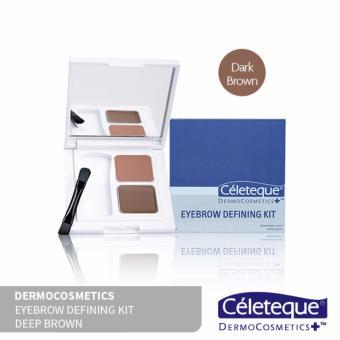 Céleteque Dermocosmetics Eyebrow Defining Kit (Deep Brown)