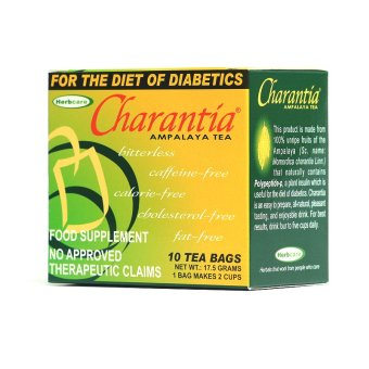 Charantia Ampalaya Food Supplement Tea Bags Box of 10