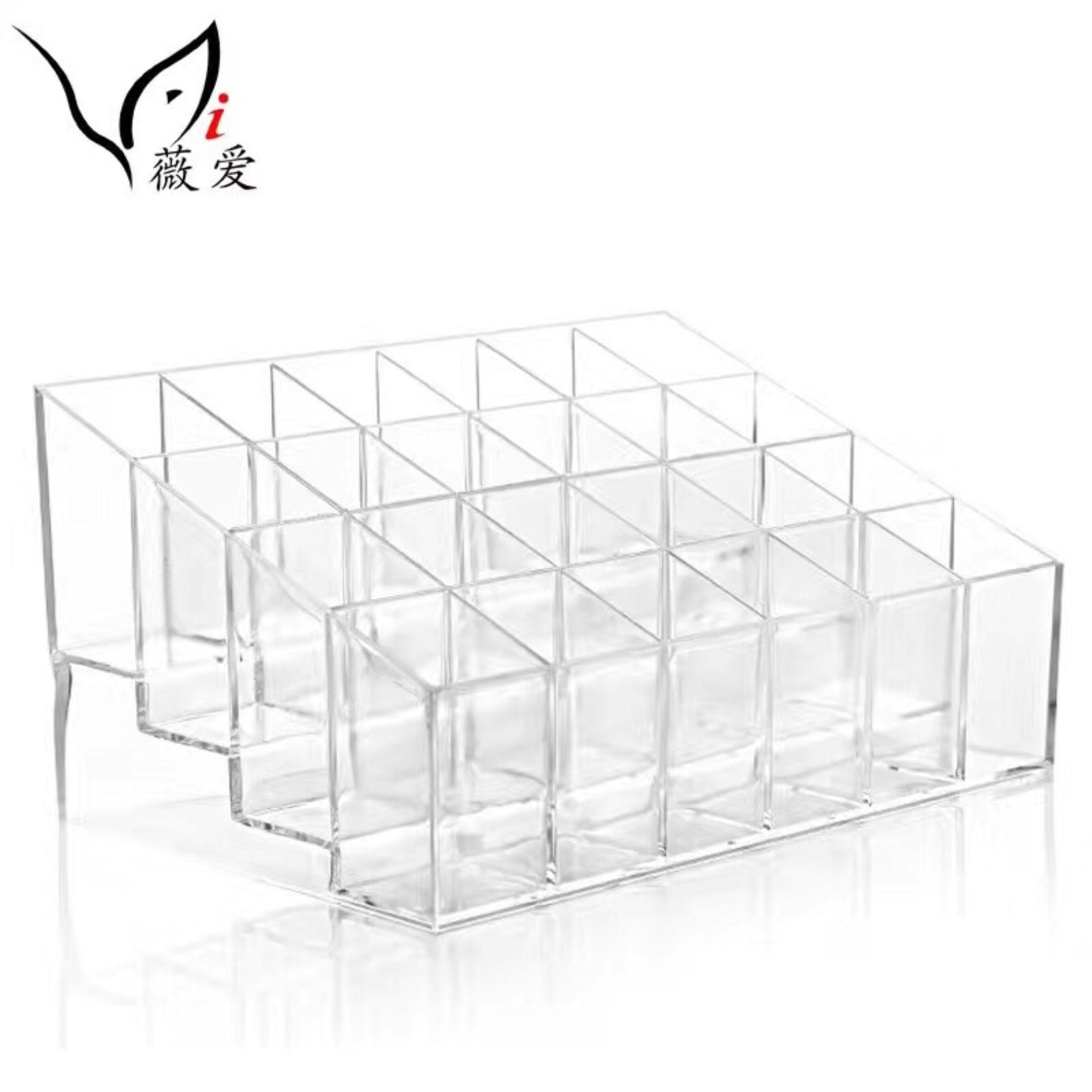 Clear Acrylic 24 Lipstick Holder Display Stand Cosmetic Storage Rack  Organizer Makeup Make Up Case Box Container Philippines