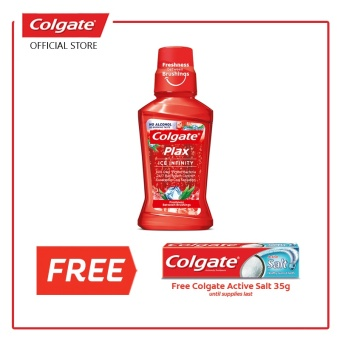 Colgate PLAX Ice Infinity (Red) with FREE Salt 35g Price Philippines