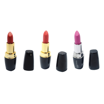 Colour Collection Vitamin E Sheer and Matte Lipstick Set (Vibrant Rose/Carnation Pink/Cherry)