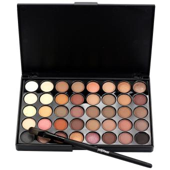 Cosmetic Matte Eyeshadow Cream Makeup Palette Shimmer Set 40 Color+ Brush Set A - intl
