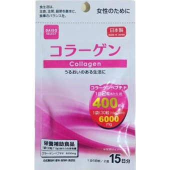 Daiso COLLAGEN (30 tablets) with Free 1 sachet Skin Magical FitJuice 11g
