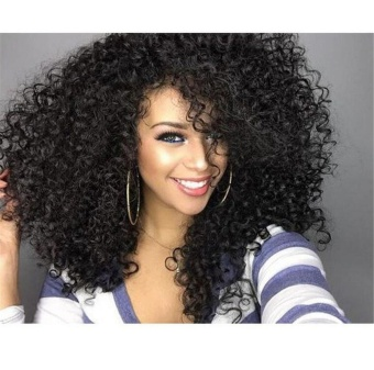 Deep Curl Full Lace Wig Virgin Brazilian Hair Glueless Full LaceHuman Hair Wigs with Baby Hair Lace Front Wig - intl - 2