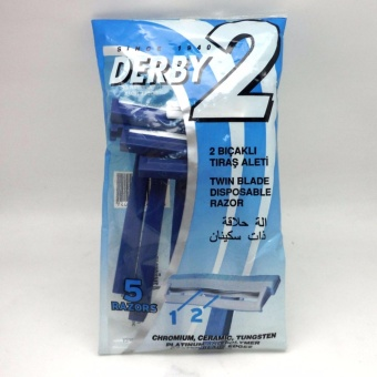 Derby2 Twin Blade Disposable Razor 5-pack