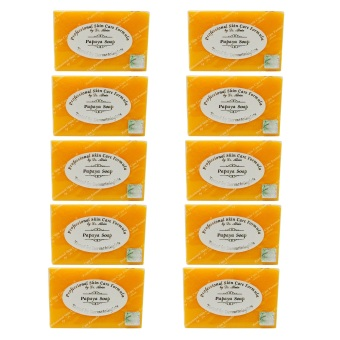 Dr. Alvin Professional Skin Care Formula Papaya Soap 135g Set of 10