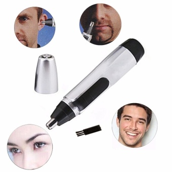 Electric Nose Ear Face Hair Removal Trimmer Shaver Clipper Cleaner Remover Tool AA battery