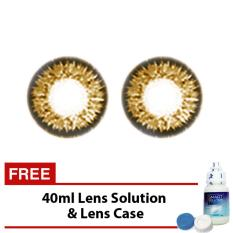 Elite Jewels Brown Soft Cosmetic Contact Lens Natural Effect with FREE 40ml Solution .