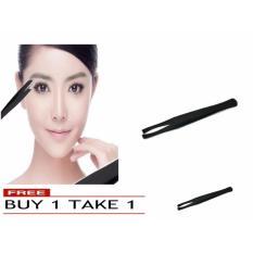 Eyelash Eyebrow Hair Removal Tweezer Clip Stainless Steel (Black) BUY 1 TAKE 1 Philippines