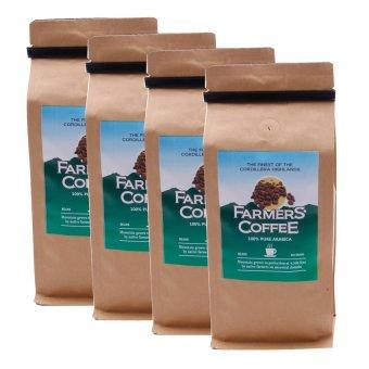 Farmers' Coffee 100% Pure Arabica Beans 250 grams Pack of 4