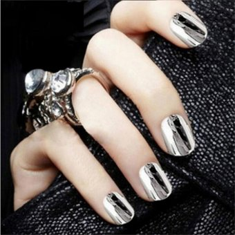 Fashion Mirror Glitter Powder Nail Art Pigment Chrome ManicureSilver - intl - 3