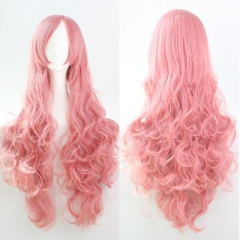 Fashion Wig 80cm Long Wig Hair Curled High Temperature Silk Multicolor Curl - Red - intl - 4