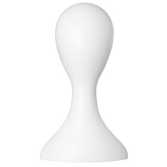 Female Plastic Mannequin Manikin Head Model Foam Wig Hair Glasses Display Stand White - 3