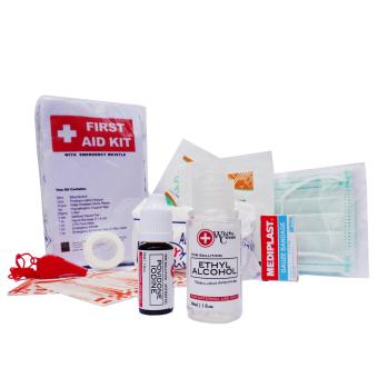 First Aid Medical and Survival Kit with Emergency Whistle TravelPouch 1 - 2