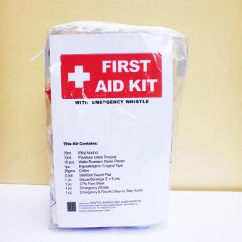 First Aid Medical and Survival Kit with Emergency Whistle TravelPouch 1 - 4