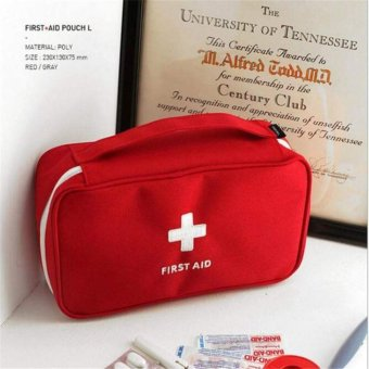 First Aid Travel Kit (red)