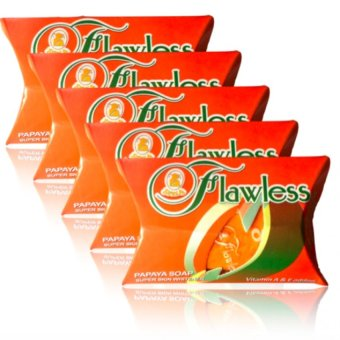 Flawless Papaya Super Whitening Soap Set of 5 Price Philippines