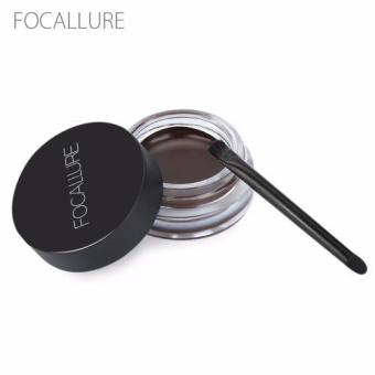 FOCALLURE Waterproof Long Lasting Dyeing Eyebrow Gel Cream with Brush Makeup Tool(Type 03) - intl