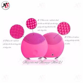 Forever LINA mini Silicon Facial Cleansing Device (Pink) - 4