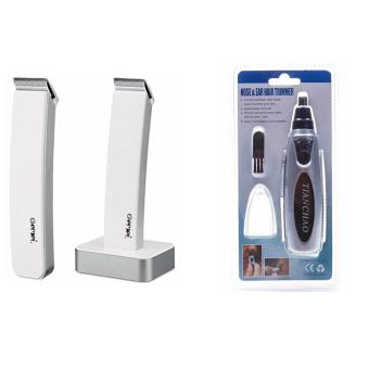 Gemei 717 Electric Hair Clipper and Trimmer Razor (White) With Noseand Ear Hair Trimmer Price Philippines