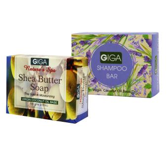 Giga Assorted Soap (Shea Butter Soap/Shampoo Bar) 100g Set of 2