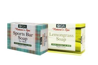 Giga Assorted Soap (Sports Bar for Men/Lemongrass) 100g Set of 2