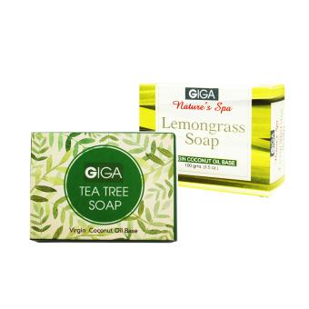 Giga Assorted Soap (Tea Tree Oil/Lemongrass Soap) 100g Set of 2