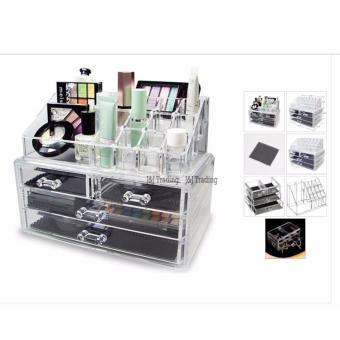 GMY Buy oneTake one Acrylic Jewelry Makeup Cosmetic Organizer Case
