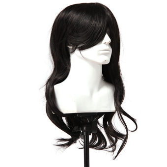 Hang-Qiao Women Synthetic 70cm Long Curly Hair Wigs (Black) - picture 2