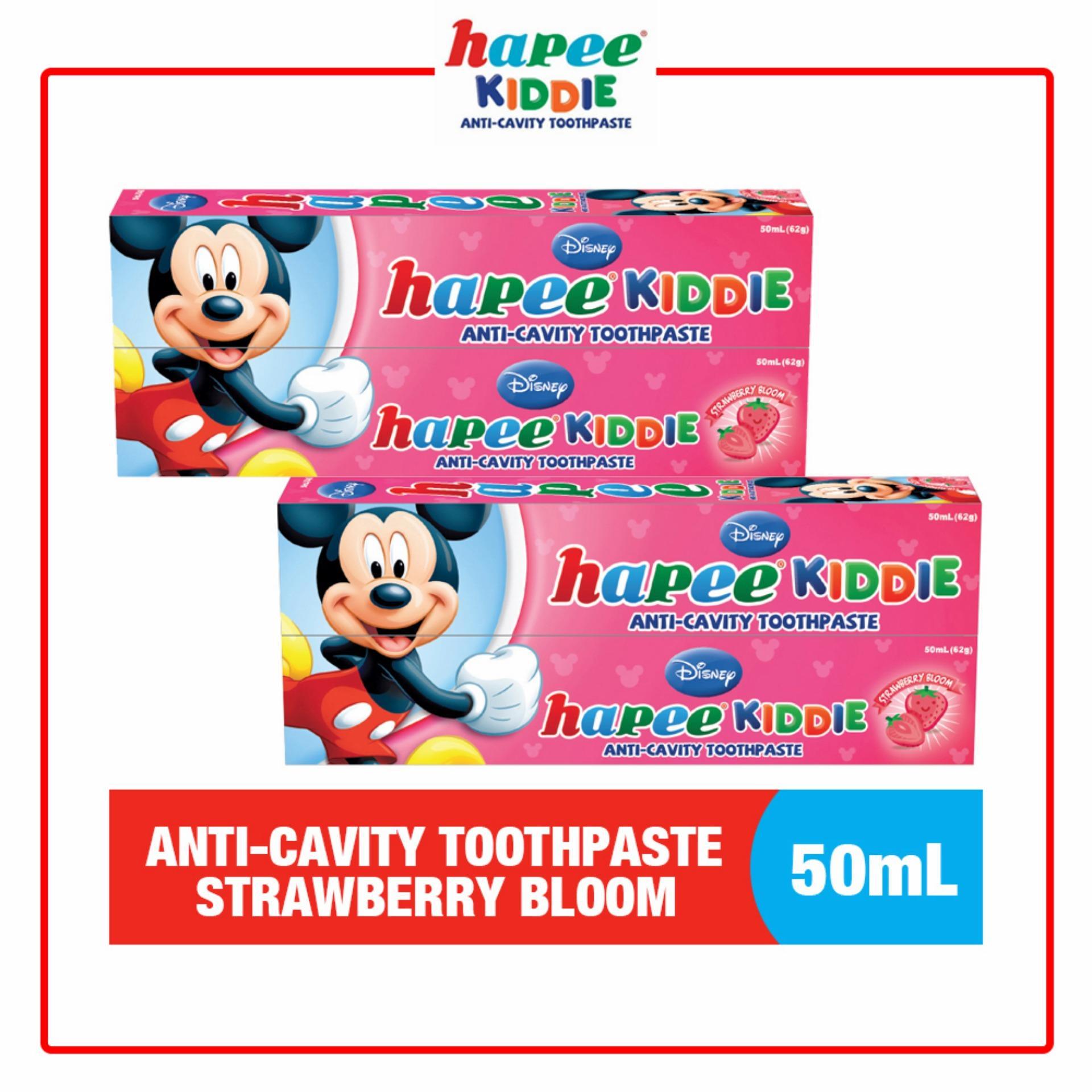 Philippines Hapee Kiddie Anti Cavity Toothpaste Strawberry Bloom Close Up Mentol Fresh 160gram Flavor 50mlset Of 4