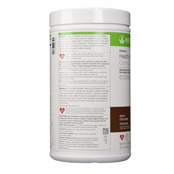 Herbalife F1 Slimming Nutritional Shake Mix 550g Canister (Dutch Choco)) - 3