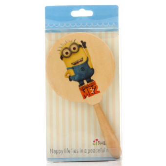 HKS Wood Handle Small Mirror Small Yellow People (Intl)