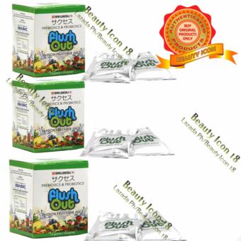 iBASIC World Flush Out Colon Cleanse Prebiotics & ProbioticsPassion Fruit High Fiber Drink 120 grams 10 packs ( 3 Boxes)