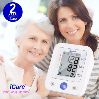 iCare(R)CK2289 Accurate Upper Arm Blood Pressure Monitor and Heart Rate Monitor (White) - 4