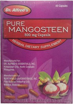 Harga Dr. Alfred's Pure Mangosteen Capsules 500mg Box of 60's