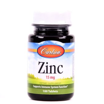 Harga Carlson Zinc 15mg Bottle of 100 Tablets