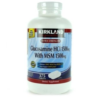 Harga Kirkland Glucosamine HCI 1500mg with MSM 1500mg Tablet Bottle of 375