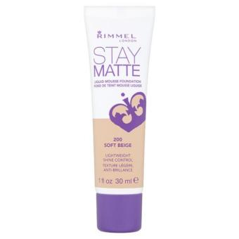 Harga Rimmel Stay Matte Liquid Mousse Foundation (Soft Beige)