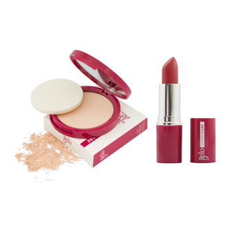 Belo Cosmeticare Face Powder (Light) with Lipstick (Rose) Price Philippines