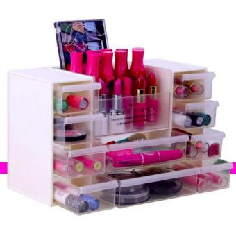 Harga New 2017 Hong Kong High Fashion Multi Storage Make Up Organizer(white)