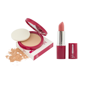 Belo Cosmeticare Face Powder (Natural) with Lipstick (Rosy Nude) Price Philippines
