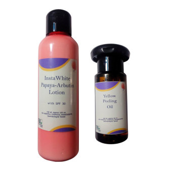 Harga Yellow Peeling Oil Skin Care -30ml Plus Insta White Skin Care Papaya Arbutin Whitening Lotion with Spf 30 100ml
