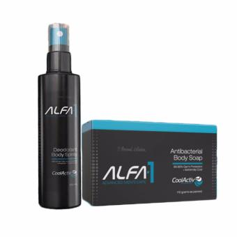 Alfa-1 Deodorant Body Spray with Alfa-1 Antibacterial Body Soap Price Philippines
