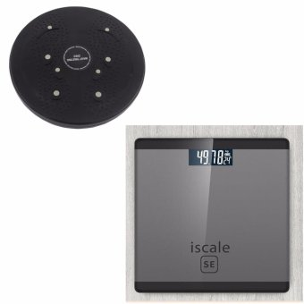 Iscale SE Digital Scale High Accuracy Weight Scale (Black-Gray) With free Waist Twisting Disc Healthy Massager (Black) Price Philippines