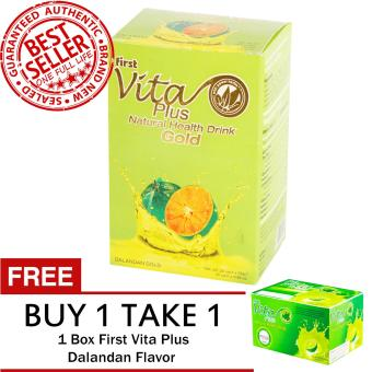 Harga First Vita Plus Dalandan Gold 20 sachets FREE First Vita Plus Dalandan Flavor