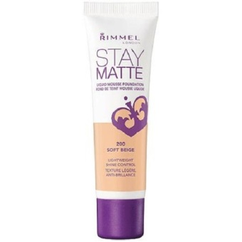 Harga Rimmel Stay Matte Liquid Mousse Foundation Soft Beige
