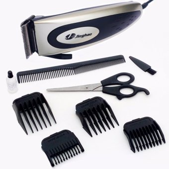 Harga JINGHAO 9W Hair Trimmer Clipper w/ Accessories Set