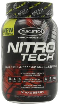 Harga MuscleTech Nitro-Tech Performance Series Strawberry 907 grams